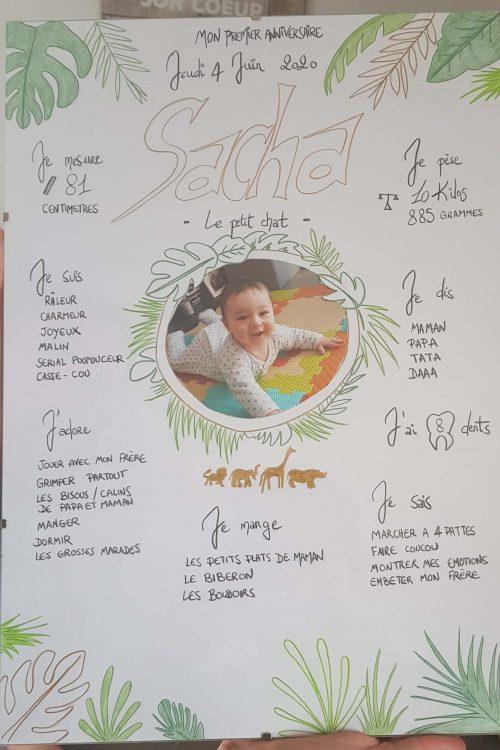 Premier anniversaire Sacha