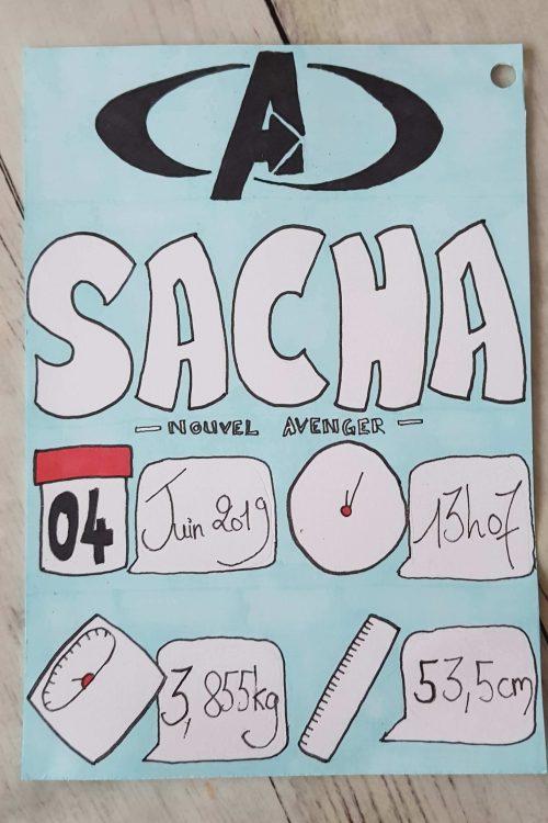 Faire part naissance Sacha