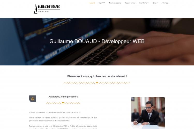 Guillaume BOUAUD - Développeur WEB à Nantes