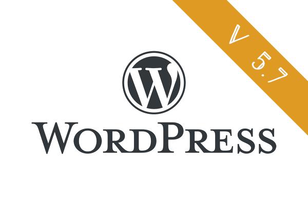 WordPress version 5.7